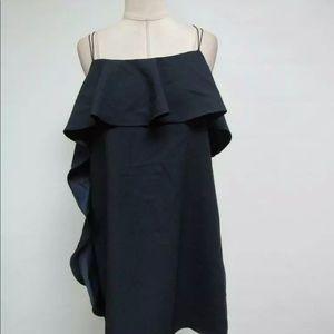 Mango navy strappy mini dress